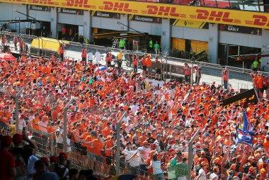 De Nederlandse fans tijdens de GP van Oostenrijk