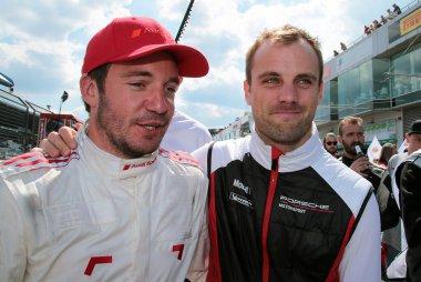 Frédéric Vervisch (Audi) en Laurens Vanthoor (Porsche)