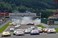 crash start 2de race 2016 Lamborghini Super Trofeo Spa
