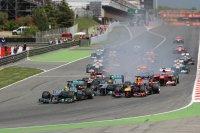 Start GP van Spanje F1 2013