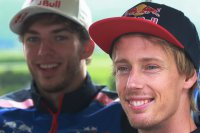 Pierry Gasly en Brandon Hartley