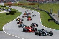 Start 2018 F1 Grote Prijs van Oostenrijk