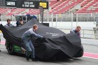 De Bentley #7 raakte zwaar beschadigd