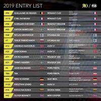 Permanente deelnemers World RX 2019