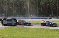 Timur Timerzyanov in de fout met zijn Hyundai i20 RX