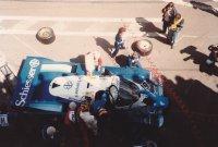 De laatste pitstop - Bellof lost Boutsen af op de Brun Motorsport Porsche 956