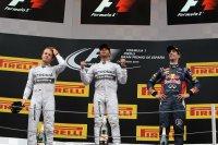 Podium GP van Spanje 2014