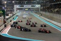 Start F2 hoofdrace Abu Dhabi