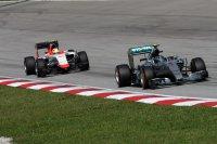 Nico Rosberg voor Roberto Merhi