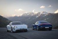 Porsche Taycan Turbo S en Turbo