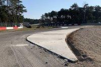Gilles Villeneuve-chicane tijdens de werken aan Circuit Zolder 2020
