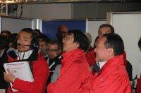 Lachende gezichten bij de Honda-ingenieurs