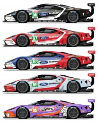 Ford GT Le Mans livery's