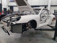 Porsche 996 van LM Racing staat reeds in de steigers voor de 24H Zolder