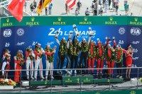 Podium LMGTE Am 24 Heures du Mans 2018