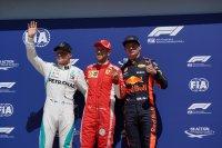 Valtteri Bottas, Sebastian Vettel en Max Verstappen