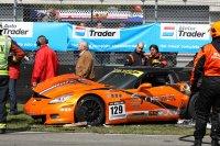 De Corvette Z06 GT3 heeft een flinke klap gekregen