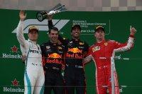 Valtteri Bottas, Daniel Ricciardo en Kimi Raikkonen