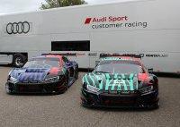 De Team WRT en Team Land Audi R8 LMS GT3 Evo