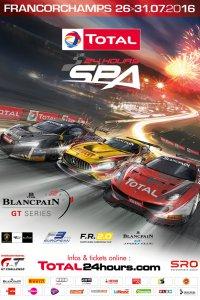 De affiche van de 24 Hours of Spa 2016