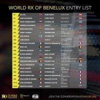Deelnemers Spa World World RX of Benelux 2019