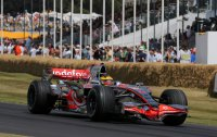 Proeven van F1 in Goodwood