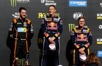 Zweeds podium met de broers Hansen en Anton Marklund