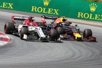 Max Verstappen viel terug achter Kimi Raïkkönen