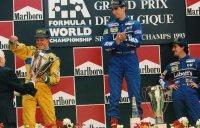 Podium Spa 1993: Schumacher - Hill - Prost