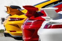 Knappe kontent - drie generaties Porsche 911 GT3 (vlnr. 996.2, 997.2 en 991.2)