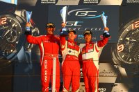Podium Misano met Cordoni, Bianchi & Van Glabeke