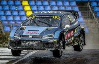 Johan Kristoffersson won de eerste race van het weekend