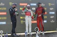 Zweeds podium met Ekström, Kristoffersson & Larsson