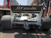 Williams FW09 met brandschade