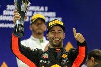 Daniel Ricciardo mocht mee naar het podium