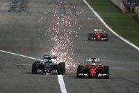 Duel tussen Rosberg en Vettel