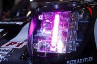 Detail van de nieuwe koplampen bij Porsche