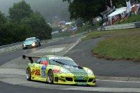 Lucas Luhr, Timo Bernhard, Mike Rockenfeller en Marcel Tiemann winnen de 24H van de Nürburgring in 2006 met hun Porsche 911 GT3 (996)