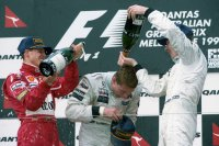 Schumacher - Coulthard - Hakkinen: podium 1997