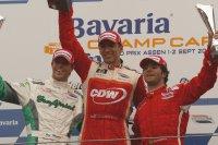 Bruno Junqueira (rechts) met Jan Heylen en de betreurde Justin Wilson