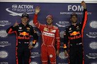 Verstappen, Vettel en Ricciardo