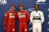 Sebastian Vettel - Charles Leclerc - Lewis Hamilton