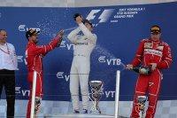Vettel, Bottas & Räikkönen - Podium GP van Rusland 2017