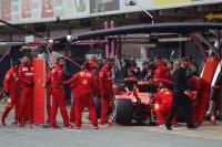 Pitstop Sebastian Vettel F1 wintertesten Barcelona 2019
