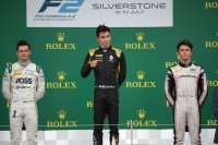 Podium F2 sprintrace Silverstone 2019