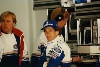 Ayrton Senna met zijn ingenieur David Brown