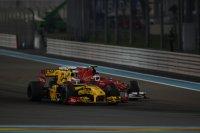 Het beeld van de race: Alonso geraakt niet voorbij Petrov
