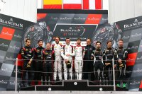 Podium Blancpain GT Endurance Cup Barcelona
