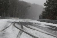 Sneeuw op en rond de Nürburgring