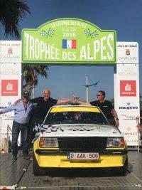 Dirk Van Rompuy-Chris Goris / Opel Ascona B VR Racing by Qvick Motors